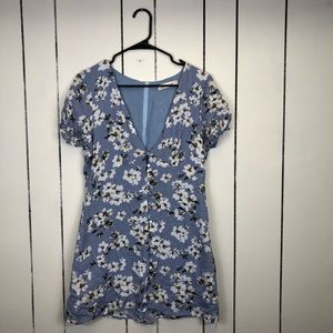 Sweet Pot Floral Print Mini Dress Sz 12
